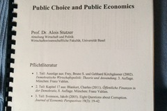 Bücher / Literatur: Reader zu Public Choice and Public Economics