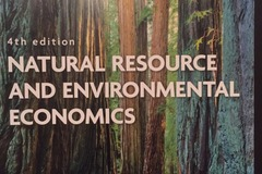 Books / literature: Natural Resource and Environmental Economics
