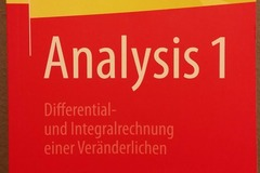 Books / literature: Analysis 1: Differential- und Integralrechnung